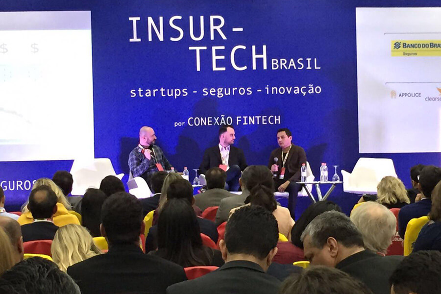 Blockchain Panel at Insurtech Brasil 2017.